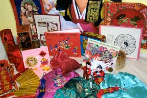Celebrate the Chinese New Year! Includes bamboo steamers, bowls, costumes, ornaments, books, and laminated posters.