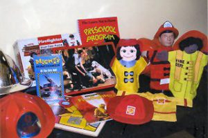 Teach the children about firefighting with this kit. Contains helmets, uniform, puppets, puzzles, books and videos.