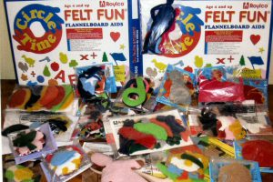 Felts, felts, felts!!! Shapes and sizes galore. Counting, shapes, multicultural people, alphabet letters, farm animals, numbers, and more.