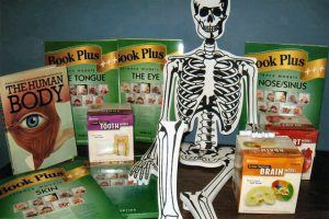 The Human Body kit introduces enquiring minds to the inner workings of the human body. The kit comes with foam models of the skin, eye, nose, ear, tongue in book form and cross section take-apart models of the brain, tooth and heart as well as a skeleton floor puzzle and a pop-up book on the human body.