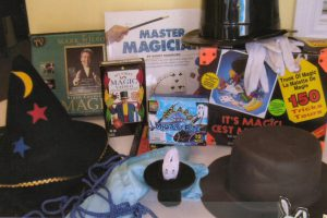 Children (and adults) love magic. This kit includes 2 videos, games, kits, book and activities.