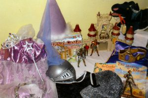 Take the children back in time! Dress up costumes, activities, figurines, teacher's guide, costume making, books.