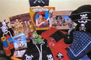 The Pirates of the Caribbean movies are very popular. And so is the Umbrella Pirates curriculum kit! It includes dress up activities, books, map making, maps to follow, a pirate puppet, spy glass and telescopes, games and more.
