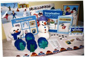 Winter - sponge painter, game, activities, snowman beanbag